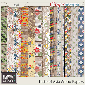 Taste of Asia Wood Papers by Aimee Harrison