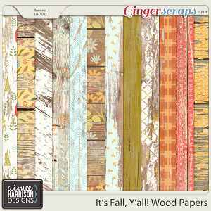 It's Fall Y'all Wood Papers by Aimee Harrison