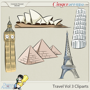 Doodles By Americo: Travel Vol 3 Cliparts