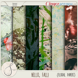 Hello, Fall! Floral Papers