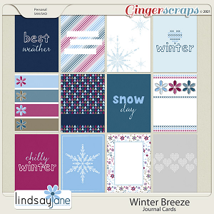 Winter Breeze Journal Cards by Lindsay Jane