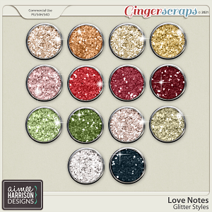 Love Notes Glitters by Aimee Harrison