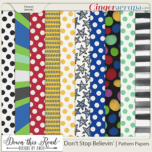 Don't Stop Believin' | Pattern Paper Pack