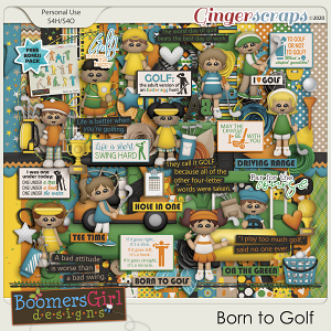 Born to Golf by BoomersGirl Designs
