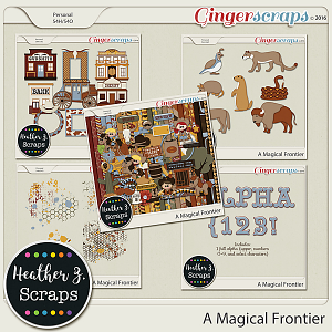 A Magical Frontier BUNDLE by Heather Z Scraps