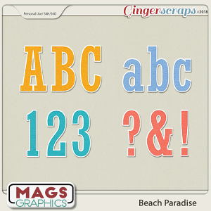 Beach Paradise ALPHA by MagsGraphics