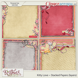 Kitty Love Stacked Papers (layers)