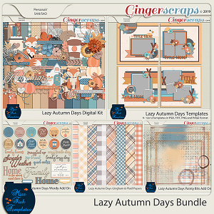 Lazy Autumn Days Digital Scrapbooking Bundle by Miss Fish