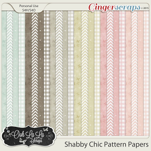 Shabby Chic Pattern Papers