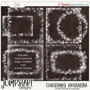 Christmas Nostalgia {Winter Frames & Overlays}