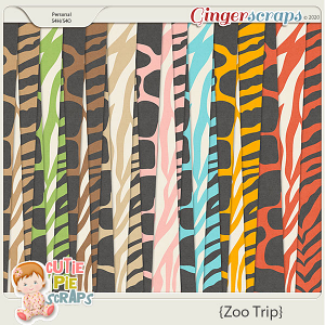 Zoo Trip Pattern Papers