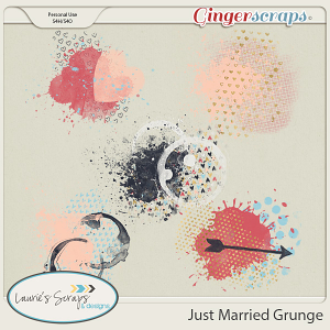 Just Married Grunge