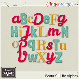 Beautiful Life Alpha Sets by Aimee Harrison