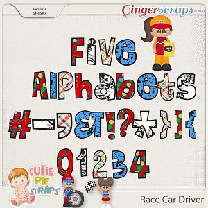 Race Car Driver Alphabets