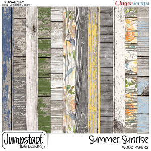 Summer Sunrise {Wood Papers}