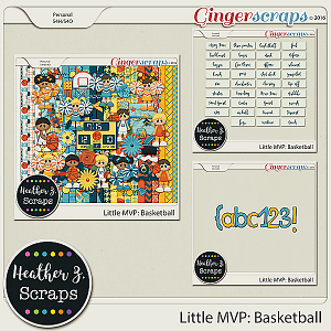 Little MVP: Basketball BUNDLE by Heather Z Scraps