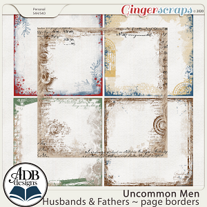 Uncommon Men: Husbands & Fathers Page Borders by ADB Designs