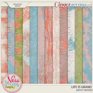 Life Is Grand - Artsy Papers - By Neia Scraps