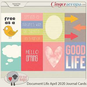Document Life April 2020 Journal Cards by Luv Ewe Designs