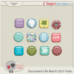 Document Life March 2021 Flairs by Luv Ewe Designs