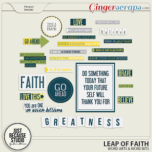 Leap Of Faith Wordarts and Wordbits by JB Studio