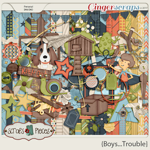 Boys...Trouble Kit by Scraps N Pieces