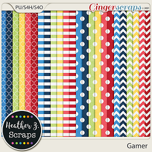 Gamer EXTRA PAPERS by Heather Z Scraps