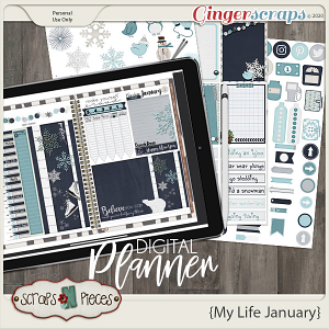 My Life January Planner Pieces - Scraps N Pieces