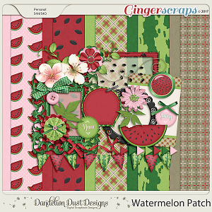 Watermelon Patch Digital Scrapbook Kit By Dandelion Dust Designs
