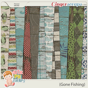 Gone Fishing Wood Papers