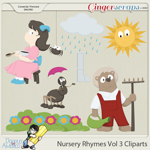 Doodles By Americo: Nursery Rhymes Vol 3 Cliparts