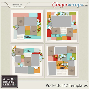 Pocketful #2 Templates by Aimee Harrison