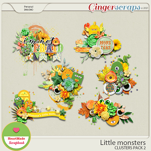 Little monsters - clusters pack 2