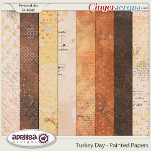Turkey Day - Painted Papers