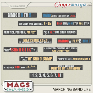 Marching Band Life BAND PHRASES by MagsGraphics