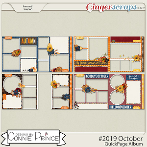 #2019 October - Quick Pages by Connie Prince