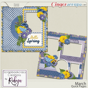 March Quick Pages by Scrapbookcrazy Creations