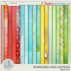 Bumblebees And Ladybugs Paper Pack by Ilonka's Designs