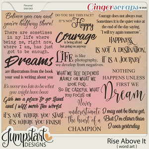 Rise Above It {Word Art} by Jumpstart Designs