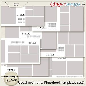 Usual moments Photobook templates Set 3