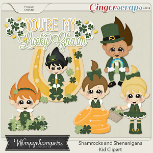 Shamrocks and Shenanigans- Kid Clipart