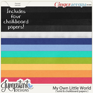 My Own Little World {Solid Papers} by Jumpstart Designs