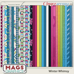Winter Whimsy PAPER Pack by MagsGraphics