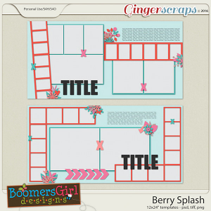 Berry Splash Template Pack by BoomersGirl Designs