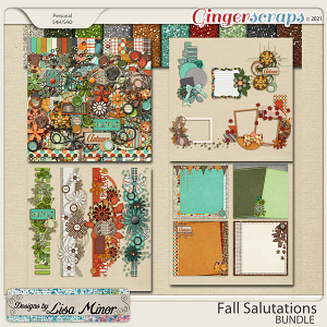 Fall Salutations BUNDLE from Designs by Lisa Minor