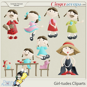 Doodles By Americo: Girl-tudes Cliparts