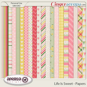 Life Is Sweet - Papers by Aprilisa Designs