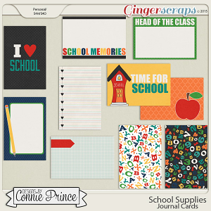 School Supplies - Journal Cards