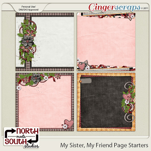 My Sister, My Friend {Page Starters} by North Meets South Studios
