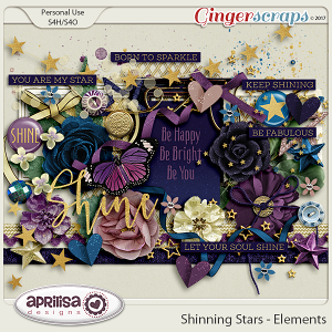 Shining Stars - Elements by Aprilisa Designs